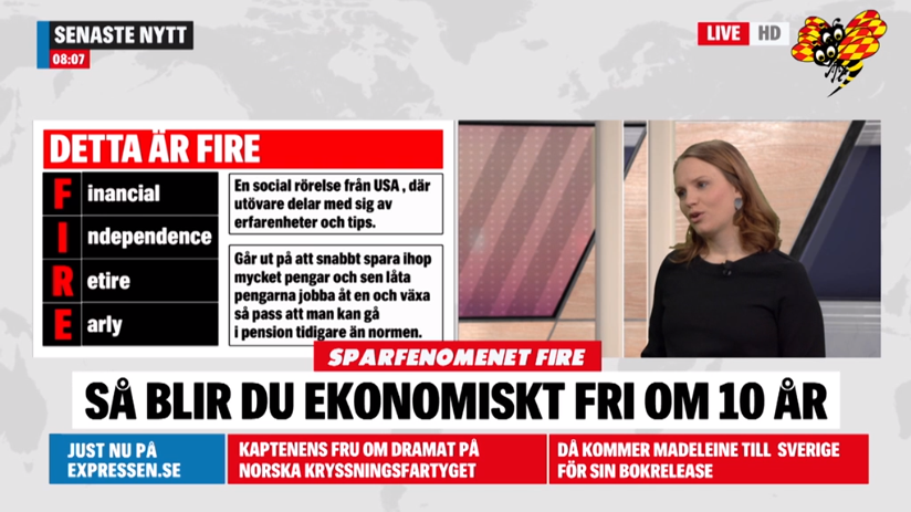 Sandra Bourbon Expressen TV FIRE
